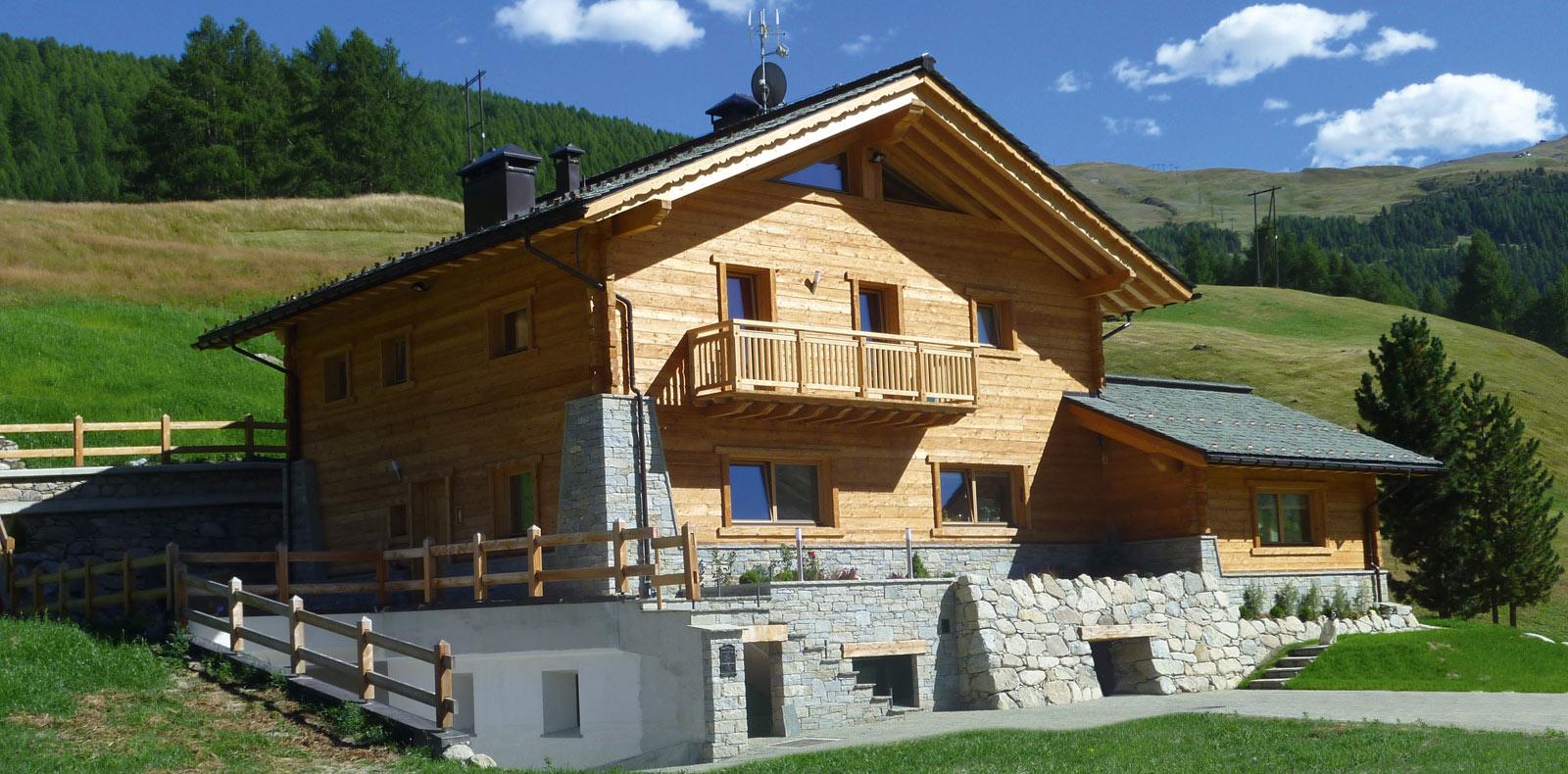 Greenbuild case in legno massiccio for Casa in legno romania